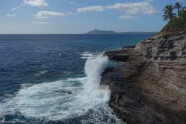 At the Spitting Cave of Portlock