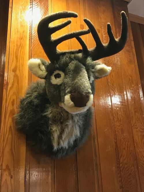 Plush stuffed deer.