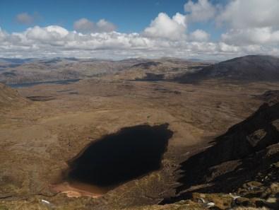 Lochan Bealach Cornaidh, seen from Quinag