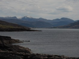 View back to Ullapool from Rhue
