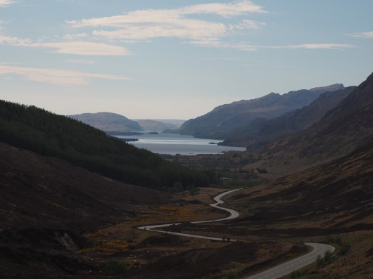 view of Loch Maree from Glen Docherty Viewpoint
