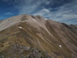view toward Spidean Coire nan Clach