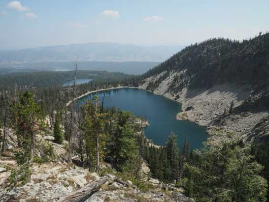 Bench Lakes, with Redfish Lake far below