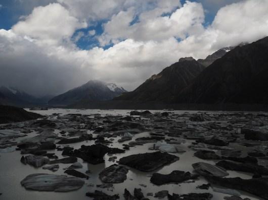 Icebergs in Tasman Glacial Lake