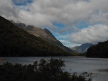 Lake Howden surrounded by mountains