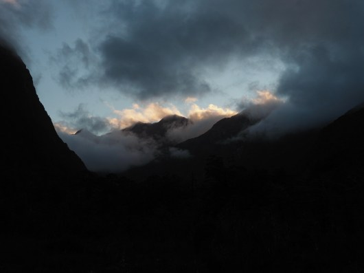Mountain views, looking up the Clinton Valley along the Milford Track