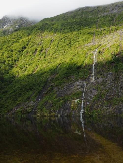 Waterfall and Hidden Lake