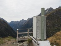 Loo with a view at Mackinnon Pass