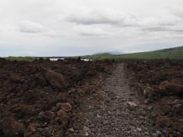 King's Highway across lava flows, Maui