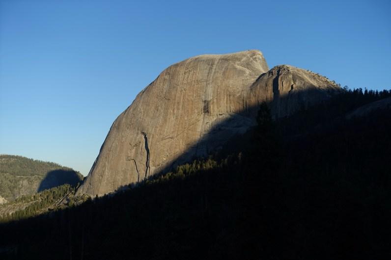 Dawn hits Half Dome