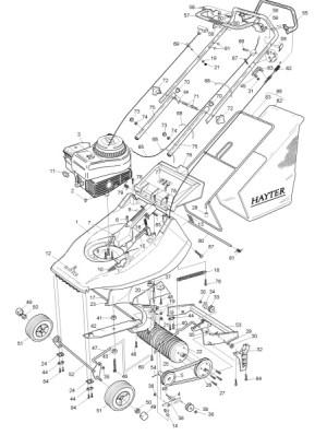 Hayter Hawk  308A001001 Spares and Spare Parts