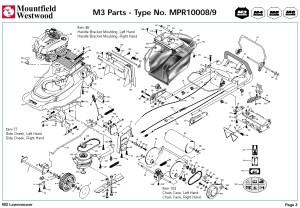 MPR10008 MPR10009 Mountfield M3 Pre 2002 Machine Diagram