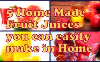 5 Home Made Fruit Juices you can quickly make at Home