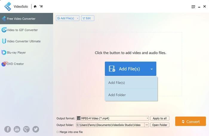 Add Files to VideoSolo