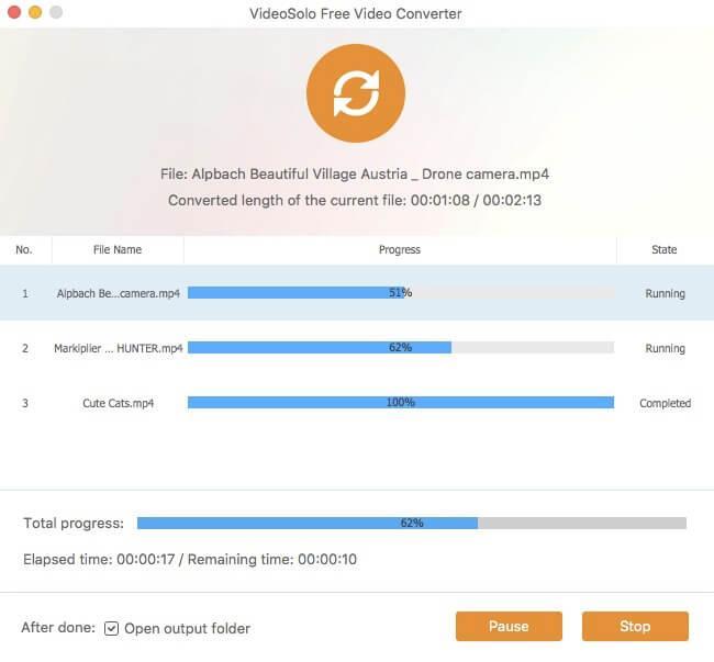 Converting Window of VideoSolo