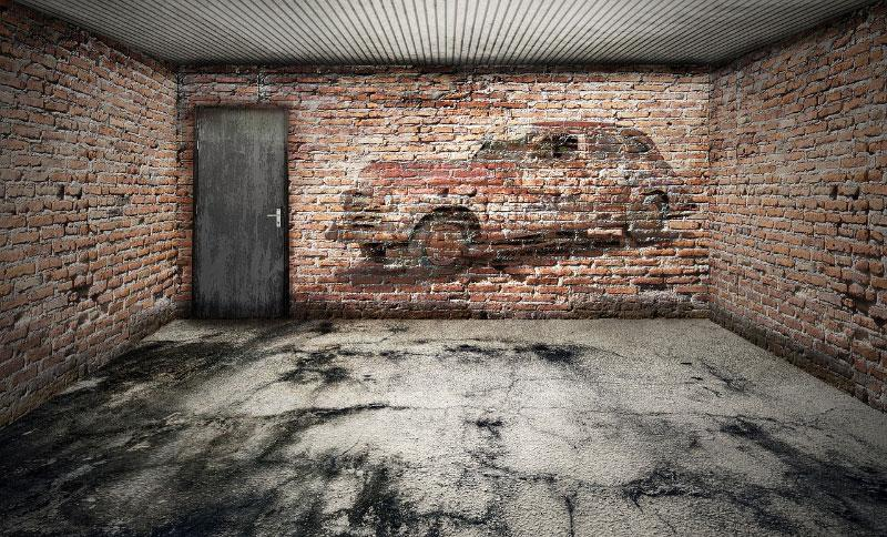 empty-garage-stone-floor