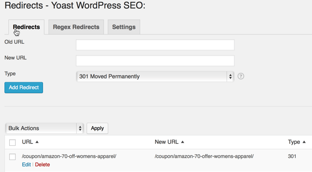 SEO redirecs plugin