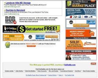 Website full of ads