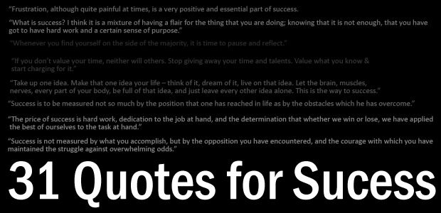 Quotes for Sucess