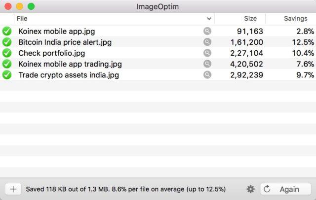 Image result for ImageOptim mac