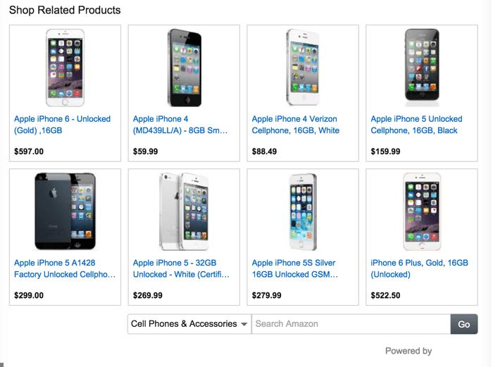 Example Amazon Display ads