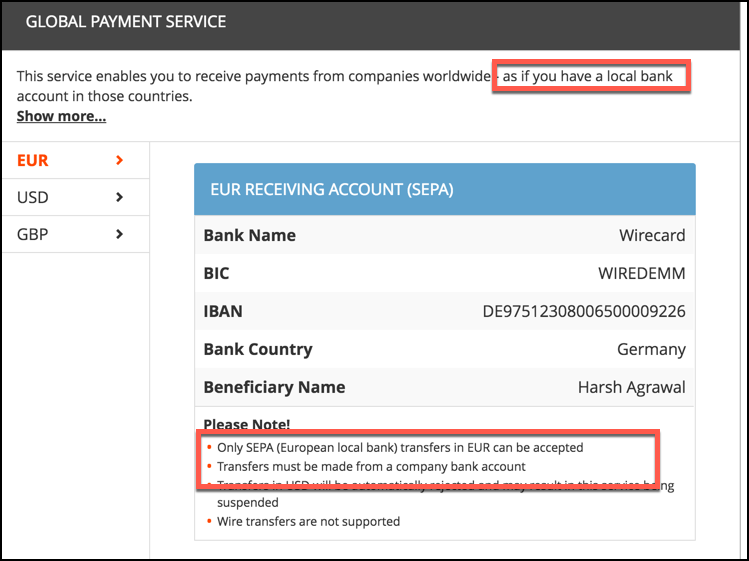 local-conto bancario-Payoneer