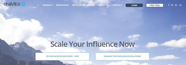 Influencer Marketing Software onalytica