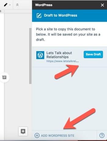 Google Docs para o WordPress