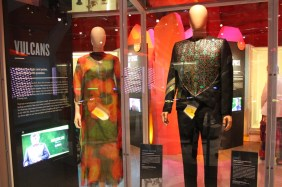 "The actual outfits worn in ""Journey to Babel"" (TOS)."