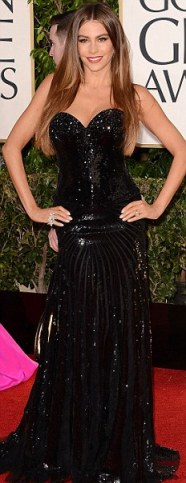 sofia vergara at golden globes-showbizbites