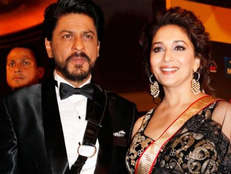 SRK and Madhuri at IIF 2013