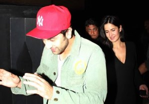 Ranbir Kapoor-Katrina Kaif Spotted at The Wolf of Wall Street Screening