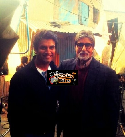 Shard with Amitabh on Bhootnath Sets