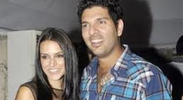 neha with yuvi at sophie bday-showbizbites