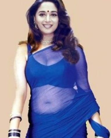 madhuri cleavage-showbizbites