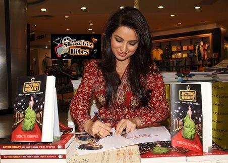 tisca chopra signs book-showbizbites