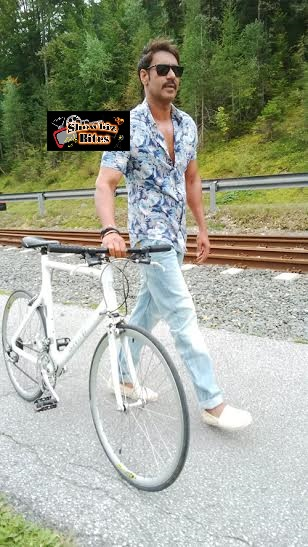 ajay cycling in austria-showbizbites