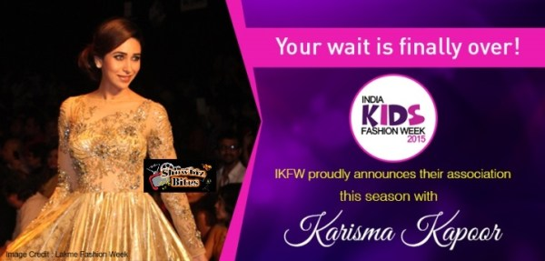 karishma to walk the ramp with kids-showbizbites
