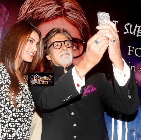 Anushka Ranjan with Amitabh Bachchan