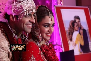PIX: Actor Himmanshoo Malhotra and Actress Amruta Khanvilkar Wedding Photos