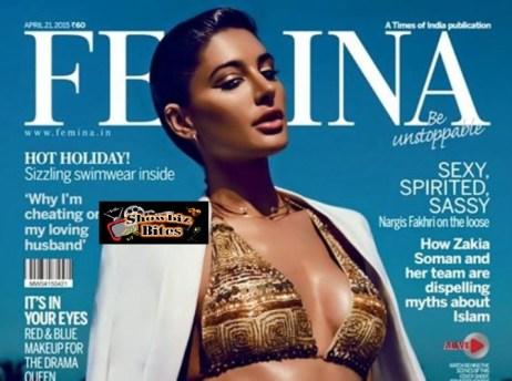 Nargis Fakhri on Femina Cover Page