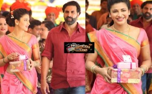 PHOTOS: Shruti Hassan Sizzles in Pink Nauvari Saree in Gabbar is Back