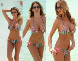 PHOTOS: Amy Childs Heats Up Dubai Beach with Her Bigger Assets in Full Display