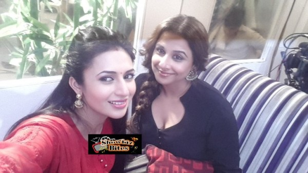 Vidya Balan on the Sets of Yeh Hai Mohabaatein