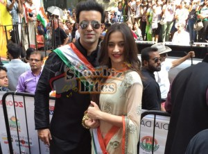 Aamir Ali and Sanjeeda Sheikh Attend Indian Independence Day Parade in New York