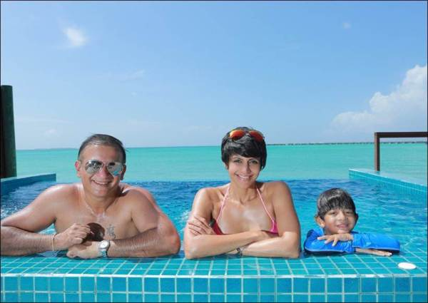 mandira bedi maldives vacation pictures