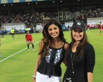 sonakshi at celebrity football match