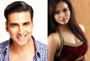 Akshay Kumar with Sana Khan in Toilet