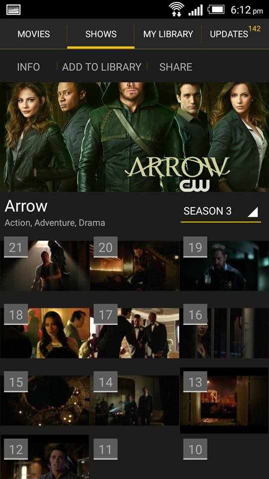 Arrow on ShowBox 3