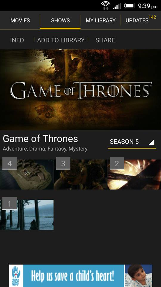Game of Throne on ShowBox